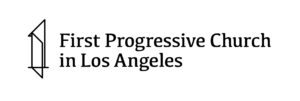 First Progressive Church in Los Angeles Tower and Text Banner Logo JPG White Background